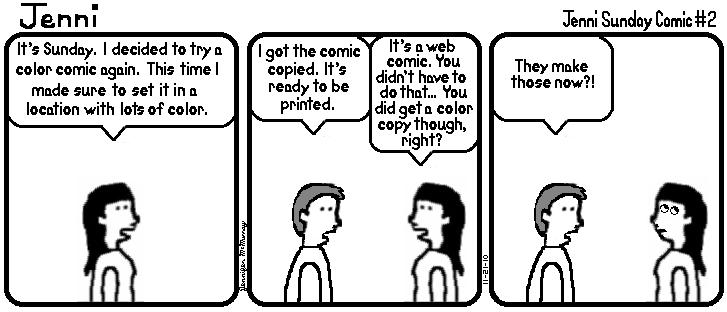 Jenni Sunday Comic #2